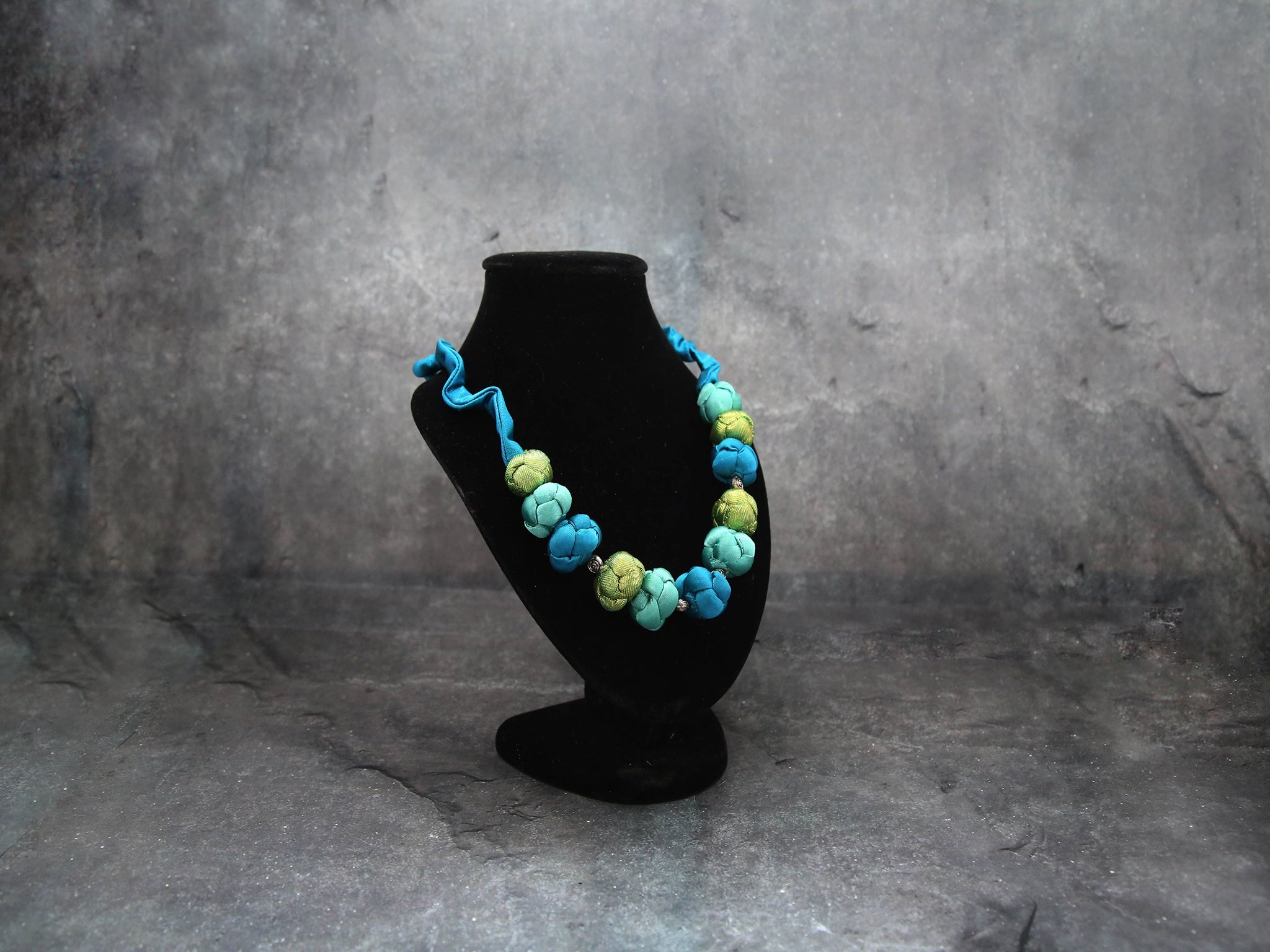Silk Ocean blue Necklace