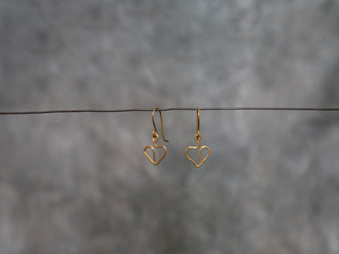 EarringsBrass Heart
