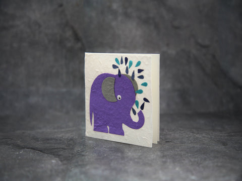 Card-Purple Elephant