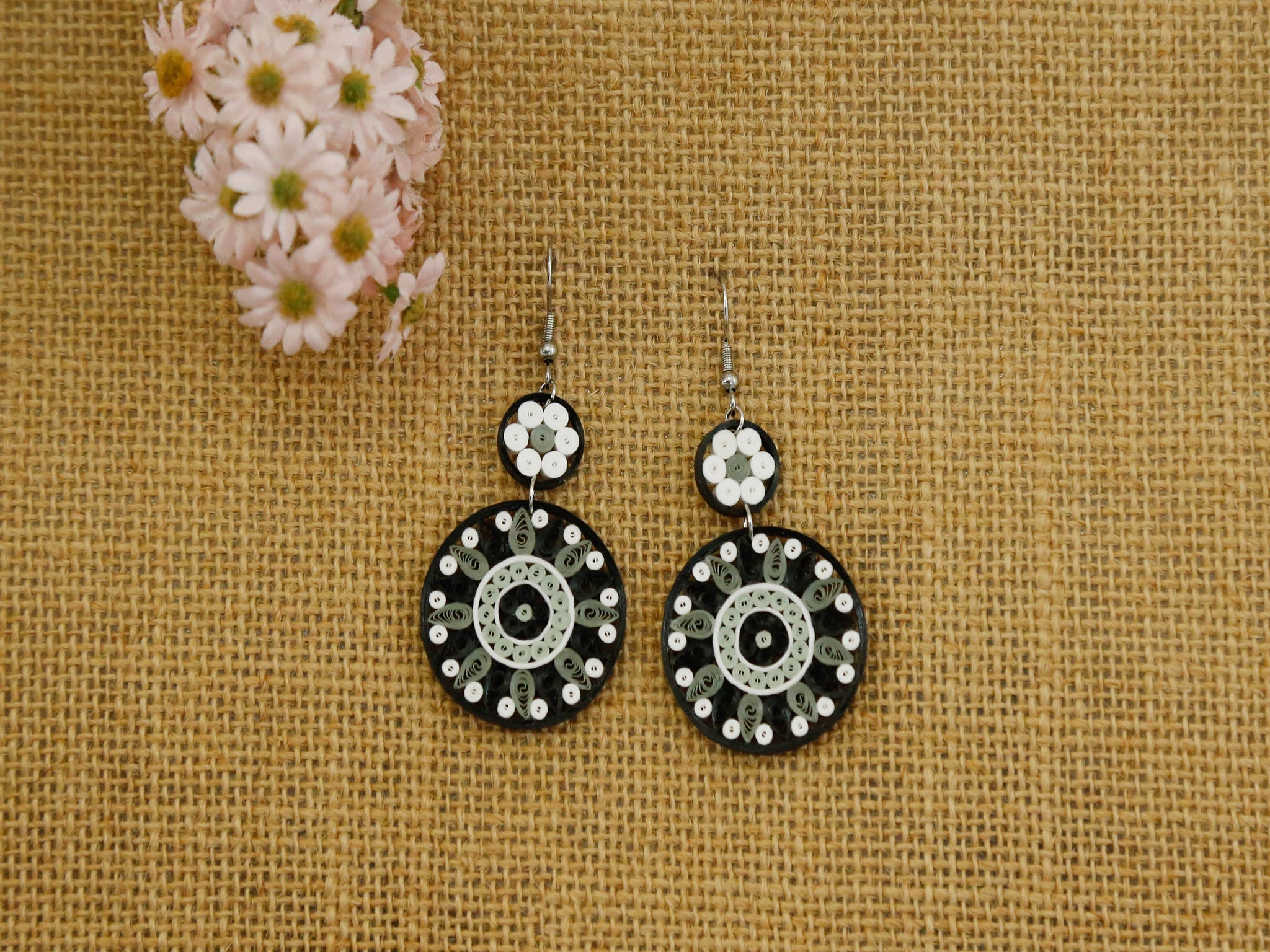 Earring- Granite Medallion