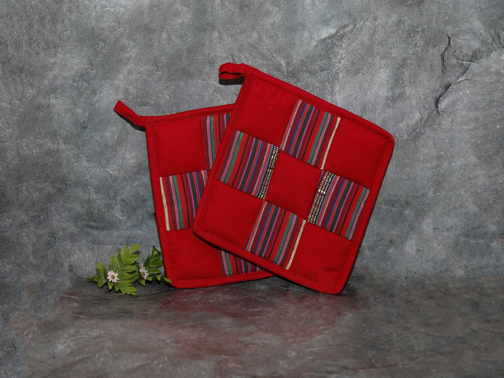 pot holder set (red)