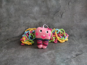 Hanging tooth fairy bag pink
