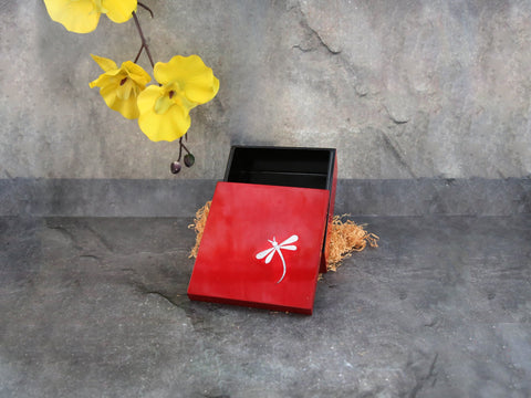 "Box w/dragon fly Red-""M"""