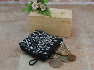 Idna Mini Coin Purse black grey