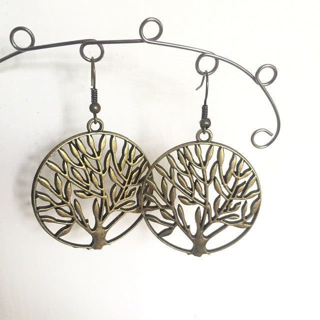 Earrings-Olive Grovebronze