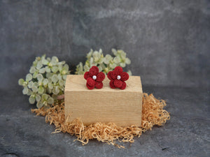Earrings Dessert Rose red