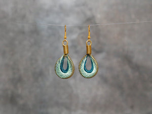 Earrings-capri 3x1.5cm