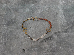 BraceletThree-Colour Heart