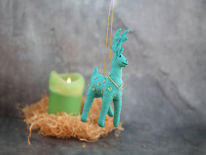 Beaded Deer- Teal