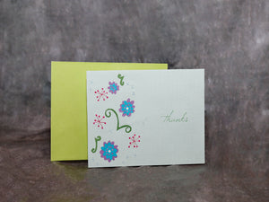 Card Flowered Thanks