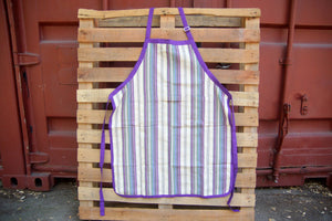 Apron stripe white/purple