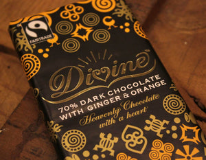 Dark Chocolate ginger & Orange 90g