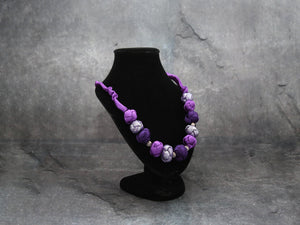 Silk  Necklace Violet