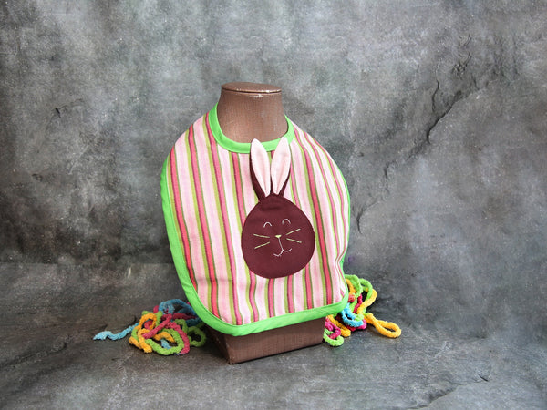 Bib-multy col baby bunny striped