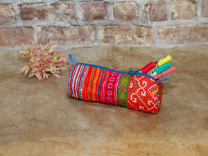 Hmong Pencile purse  patt-Cylinder,brigh