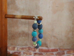 Bracelet berry shades blue / greens
