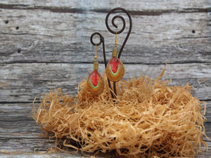 earrings Island2.5x4cm