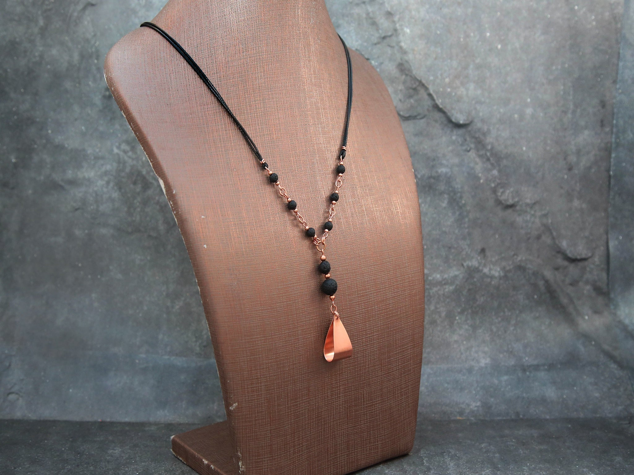 copper necklace with cord