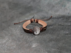 Bracelet leather Faith to move mountains