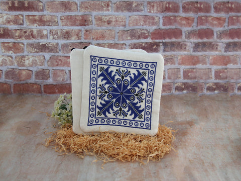 Potholders - Hebron (Blue SET)