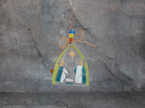 Glass Nativity Ornament