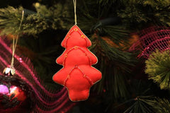 Ornament - Red Christmas Tree