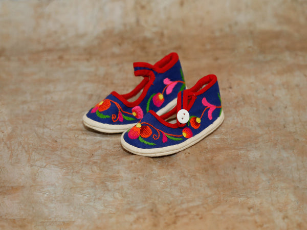 Embroidered Shoe Magnet  Blue'L'