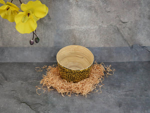 Bowl-Bamboo w/Egg shell design 'S'