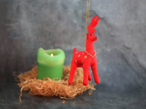 Ornament - Red Reindeer