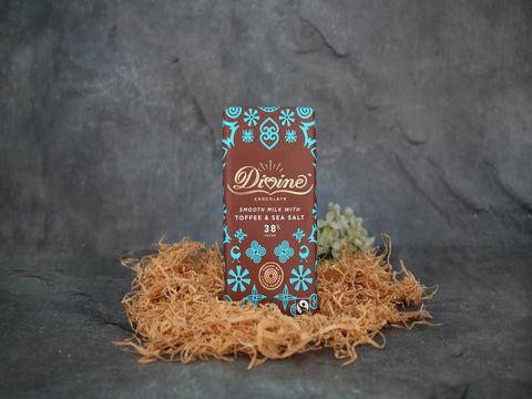 Milk Chocolate w/Toffee & Sea Salt 90g