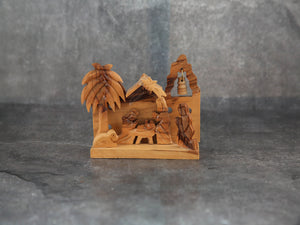 Nativity-Olive wood Scene( 8cm)