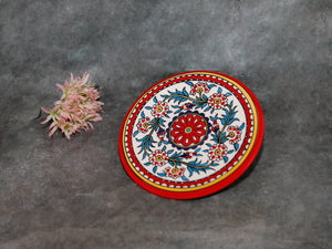 Ceramic plate red 21cm
