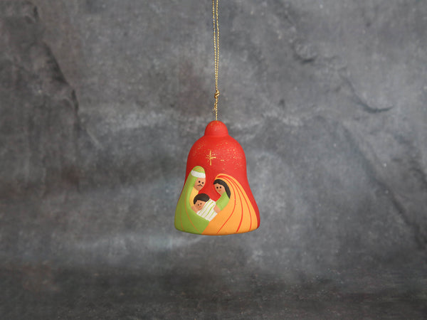 Nativity bell Clay Red&Green