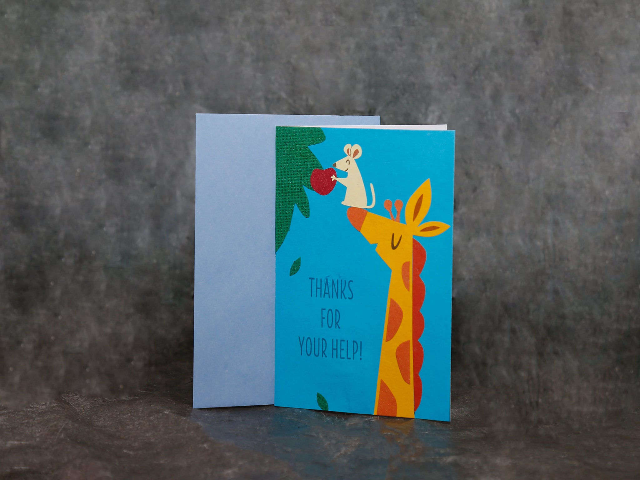 Card Giraffe Help-thank you
