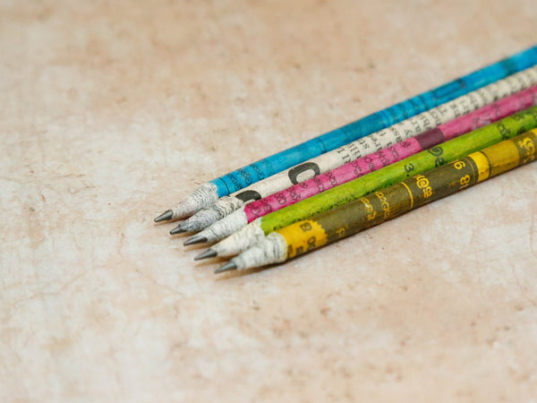 Recycled News paper pencils