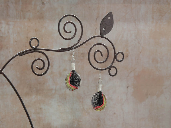 Earrings Hilal-Neon 2.5x4cm