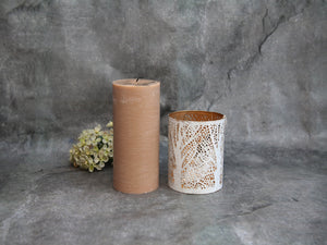Short White Birch Lantern