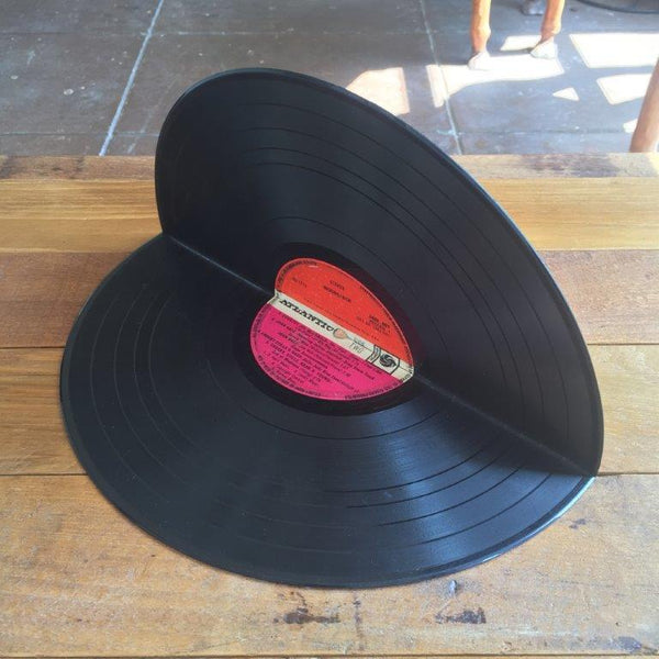 Upcycled Vinyl Record Book Ends