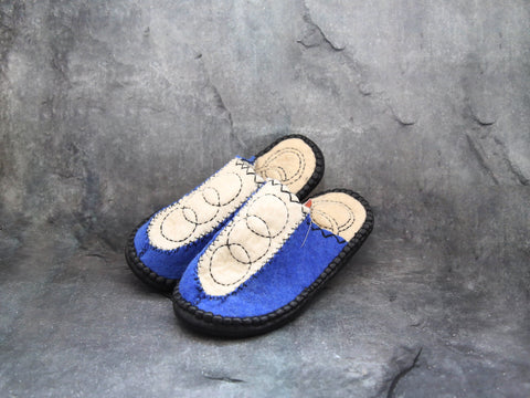 Panel Slipper-Blue (size 40)