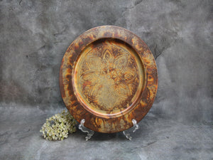 Hammered copper Mandala Tray