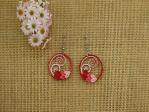 Earrings Heart Wreath