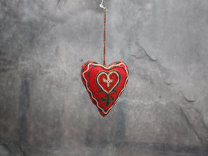 Ornament, EMB, Heart, Mini