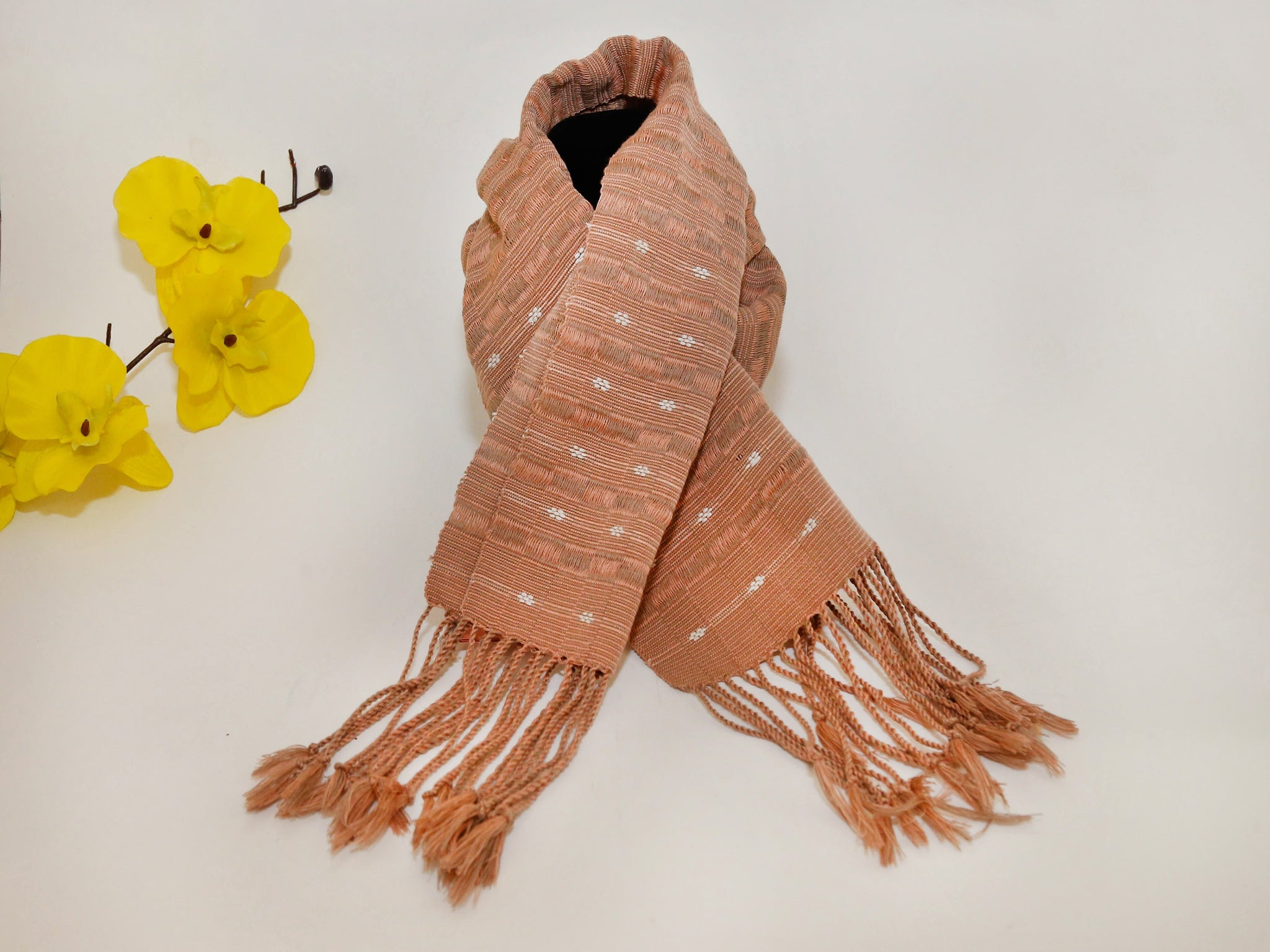 Brown /pink stripe  Ark Scarf