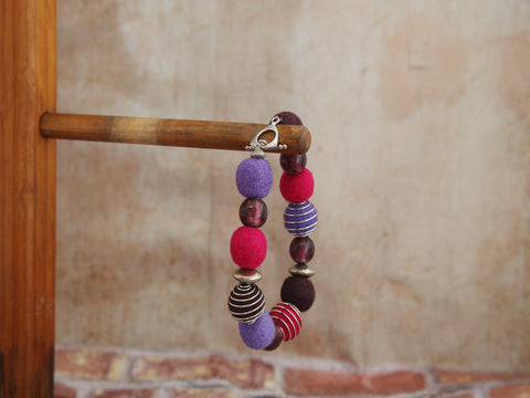 Bracelet berry shades and Pink/Purple