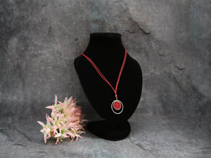 Eclipsing Circle Necklace (red)
