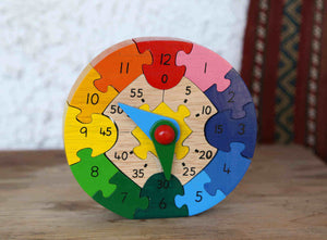 Puzzle Clock w/Hours & Seconds
