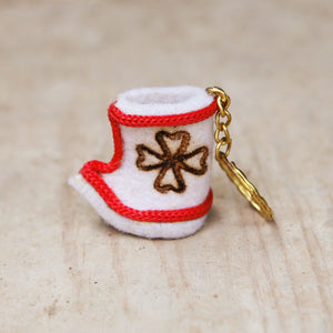 Felted Boot KeychainRed