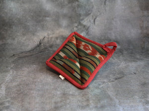 Pot Holder squareRed&Brown
