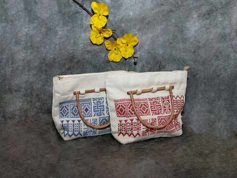 bag-w,Crosstich Blue,red