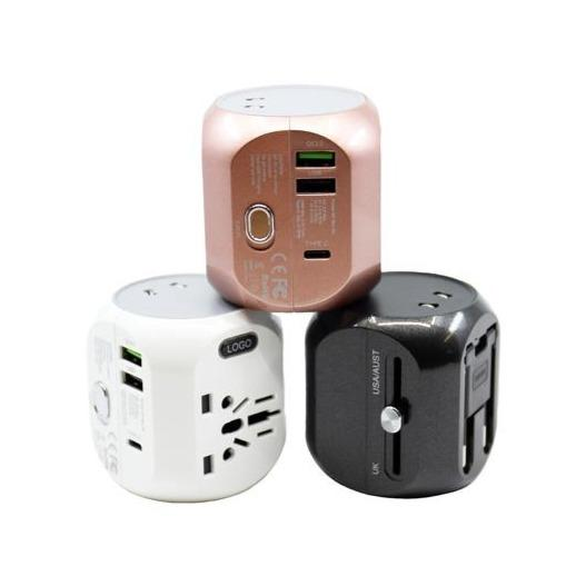 universal-travel-power-adapter-with-3-usb Black